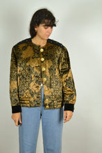 Load image into Gallery viewer, 80s Women Quilted Golden Jacket Medium M