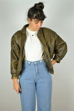 Load image into Gallery viewer, 80s Women Bike Jacket Small S