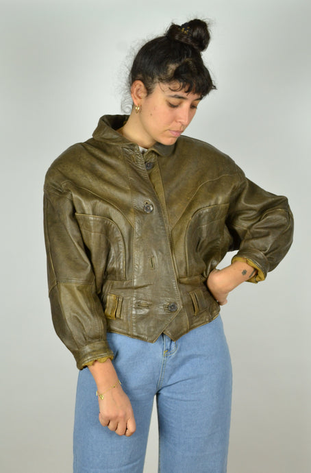 80s Women Bike Jacket Small S