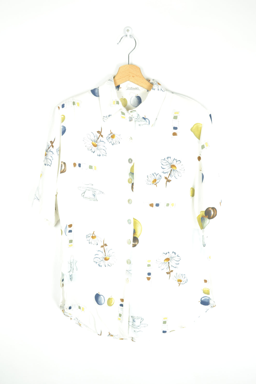 Daisy flowers Patterned Summer shirt M