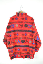 Load image into Gallery viewer, Soft Chunky 80s Red Fleece Sweater L XL