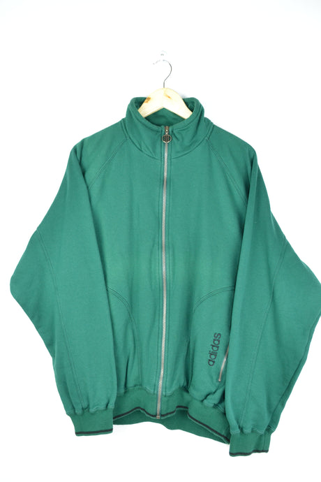 Adidas Green Zipped Jacket Oversized XL
