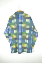 Load image into Gallery viewer, Vintage 90s - Half zip Blue & Yellow Long Sleeves Sweatshirt - Size XL