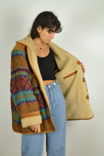 Load image into Gallery viewer, 80s Long Aztec Navajo Winter Jacket Oversized XL XXL