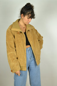 Real 70s Beige Brown Corduroy Jacket Medium M