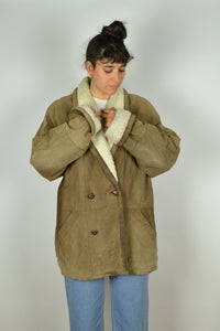 70s Unisex Sheepskin Jacket Large L XL