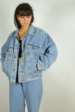Load image into Gallery viewer, 80s 90s Padded MUSTANG Denim Jacket Medium M