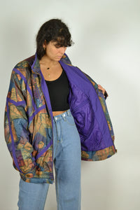 90s Colorful Parka Jacket Oversized XL XXL