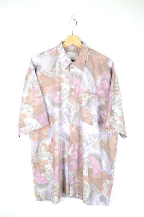 Abstract patterned Men summer shirt L