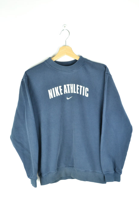 90s Nike Athletic Blue Crewneck Small S