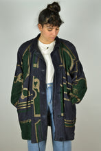 Load image into Gallery viewer, Beautiful Long Women Patterned Suede Jacket XXL