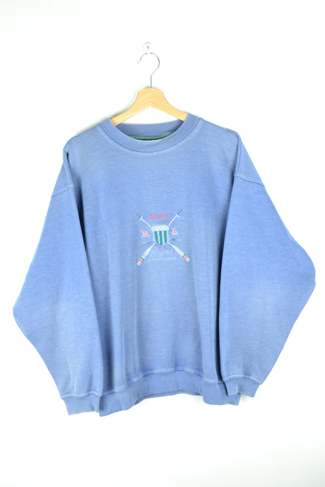 80s 90s Baby Blue Crewneck Oversized XL