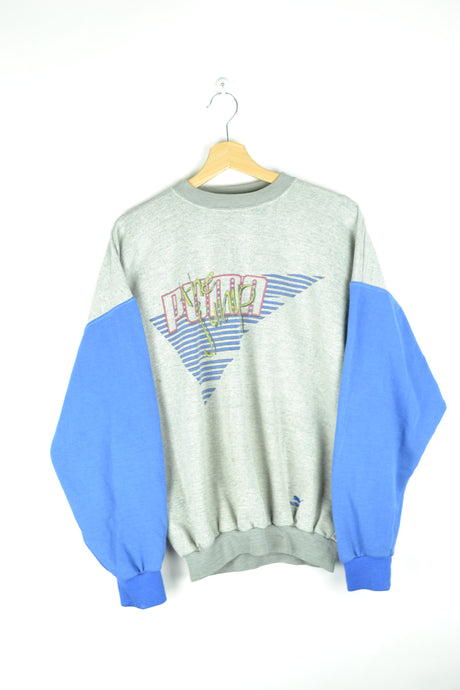 80s Puma Crewneck Gray/Blue L