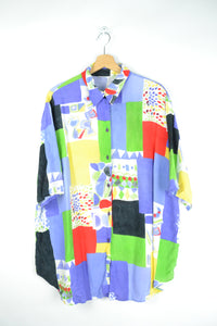 80s crazy summer shirt XL