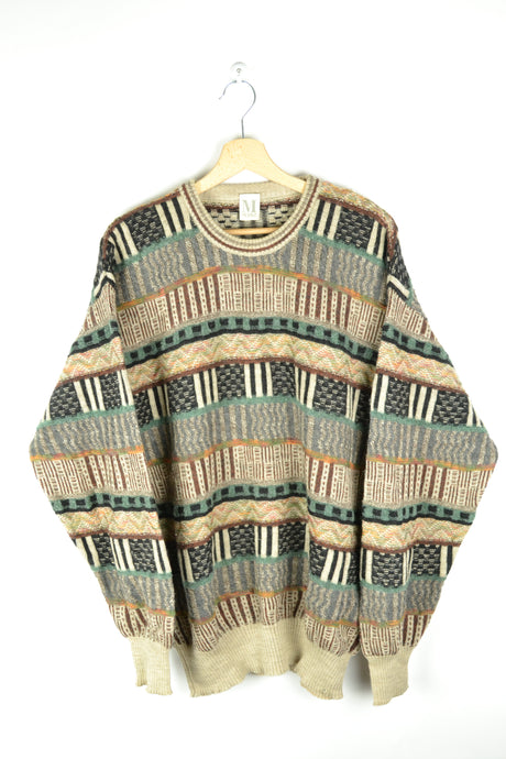 Beautiful Patterned Vintage Mohair Sweater Large L