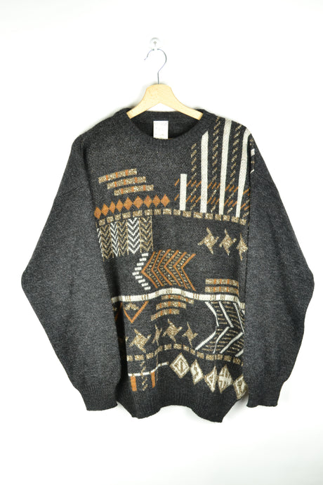 Abstract Patterns Vintage Sweater Large L XL