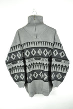 Load image into Gallery viewer, Vintage 90s - Patterned Oversized Half Zip Sweater - Size 2XL