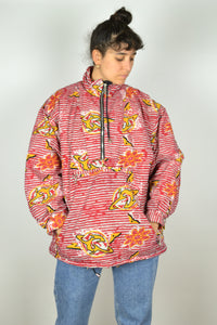 90s Half Zip Winter Jacket Large L