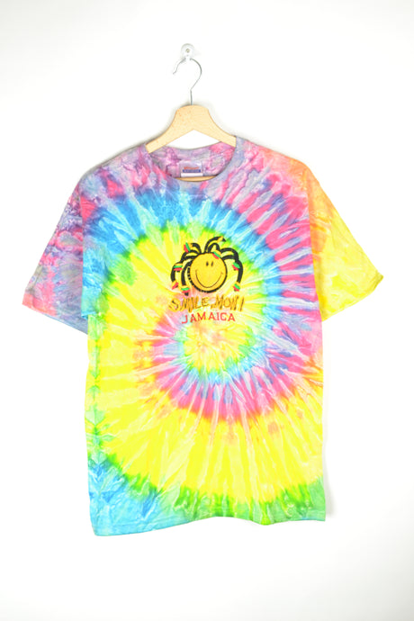 Vintage 90s - Tie & Dye SMiley T-Shirt - Size S