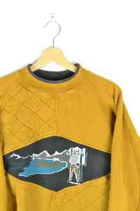 80s USA Colorado Yellow Sweatshirt Medium M