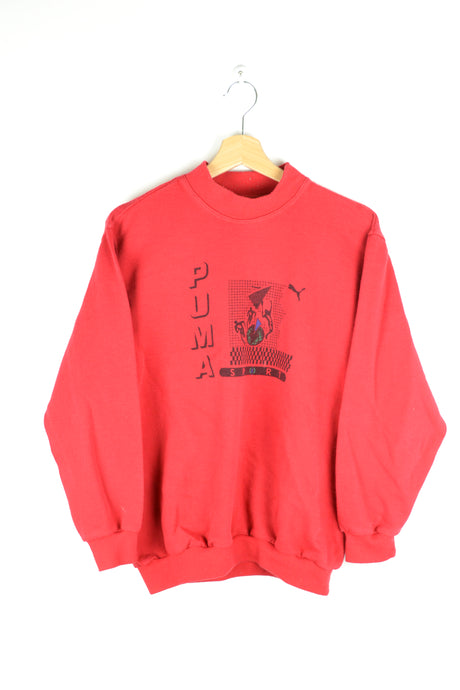 80s Red Puma Crewneck Medium M
