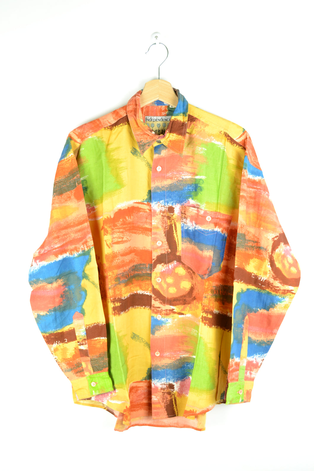 Colorful 80s Printed shirt Medium M
