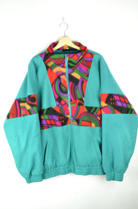 80s Oversized Fleece Jacket XL XXL