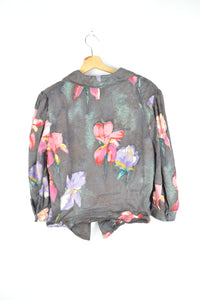 vintage light summer shirt with flowers