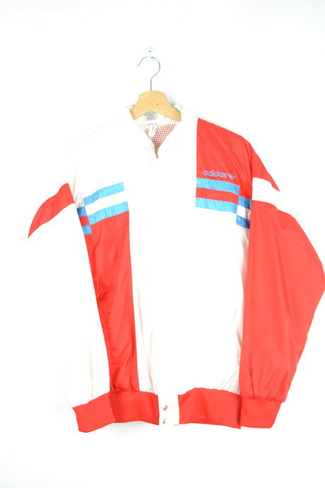 Adidas Windbreaker White/Blue/Red S M