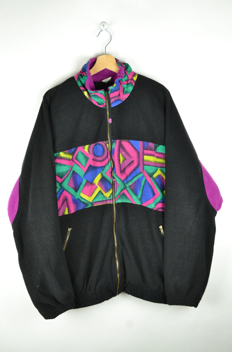 80s Zipped Fleece Jacket Oversized XL