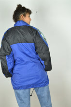 Load image into Gallery viewer, Puma Windbreaker Jacket Blue/Black Large L
