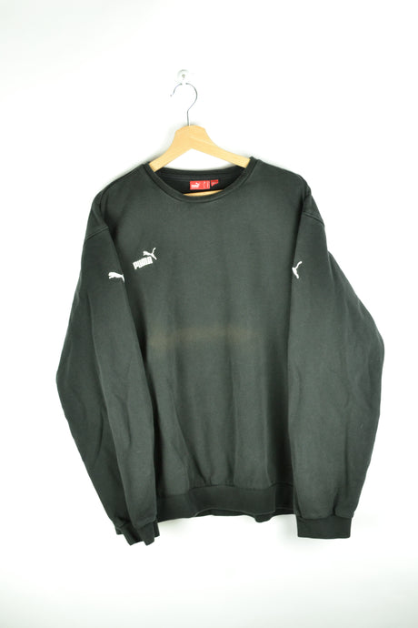 Y2K Black & White Puma Crewneck XL