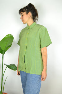 Apple green Women Summer shirt Large L