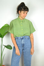 Load image into Gallery viewer, Apple green Women Summer shirt Large L