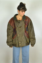Load image into Gallery viewer, 80s Barbour Style Bomber Jacket Oversized 3XL