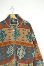 Load image into Gallery viewer, Vintage 90s - Chunky Patterned Fleece Jacket - Size L