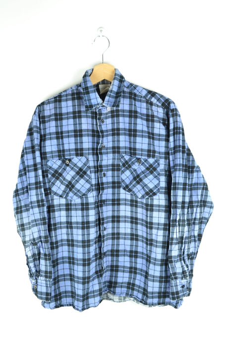 Purple Plaid Shirt Medium M