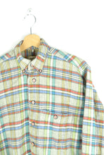 Load image into Gallery viewer, Color Striped Flannel Shirt Medium M