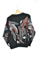 Load image into Gallery viewer, 80s Patterned Women Pullover Medium M