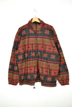 Load image into Gallery viewer, Vintage 80s - Abstract Patterned Fleece Jacket - Size 2XL