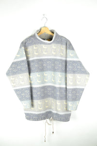 Vintage 80s - Pastel Fleece Sweater - Size M/L