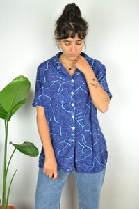 Blue wave Printed Summer shirt