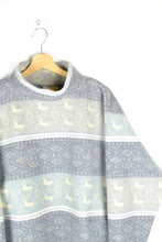 Load image into Gallery viewer, Vintage 80s - Pastel Fleece Sweater - Size M/L