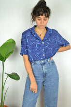Load image into Gallery viewer, Blue wave Printed Summer shirt