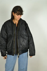 90s Alpha Industries Flyer Intermediate Black Bomber Jacket XXL