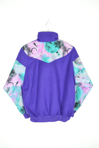 Vintage 80s - Purple Retro Fleece - Size S/M