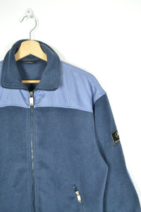Vintage 90s - Mercedes-Benz Blue Fleece Jacket - Size S