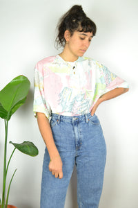 Cute Pastel Women Blouse Large L XL