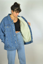 Load image into Gallery viewer, 90 Padded Winter Denim Jacket Oversized 3XL