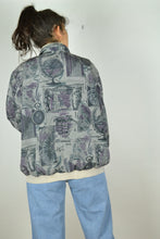 Load image into Gallery viewer, 80s print Bomber Jacket Medium M